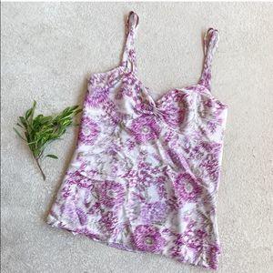 🍓5 for $25🍓 LOFT Satin Purple Floral Blouse